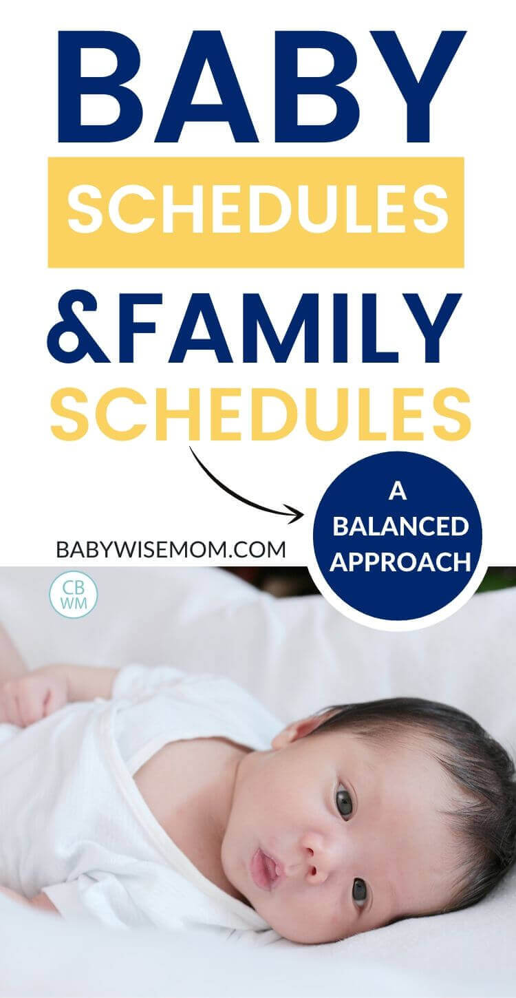 Baby schedules and family schedules pinnable image