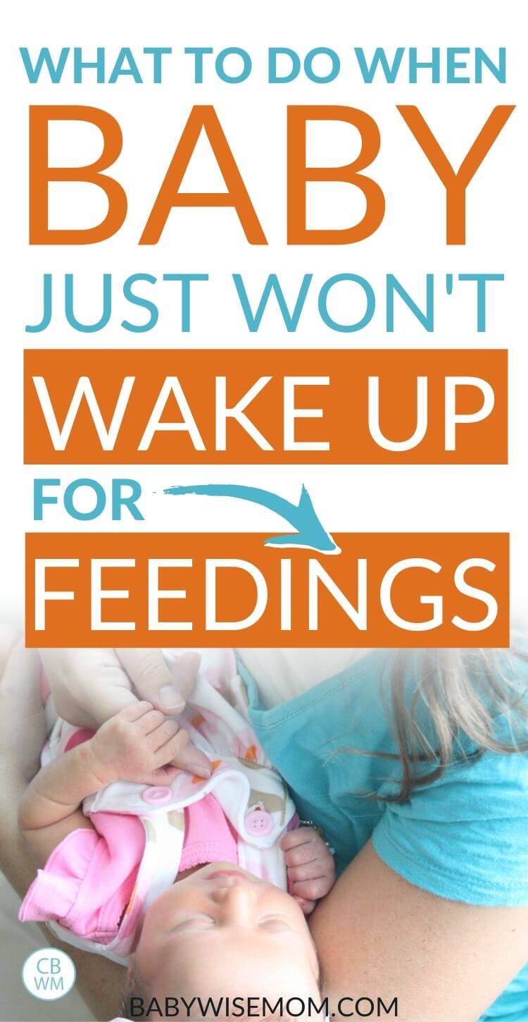 Baby won't wake for feedings pinnable image