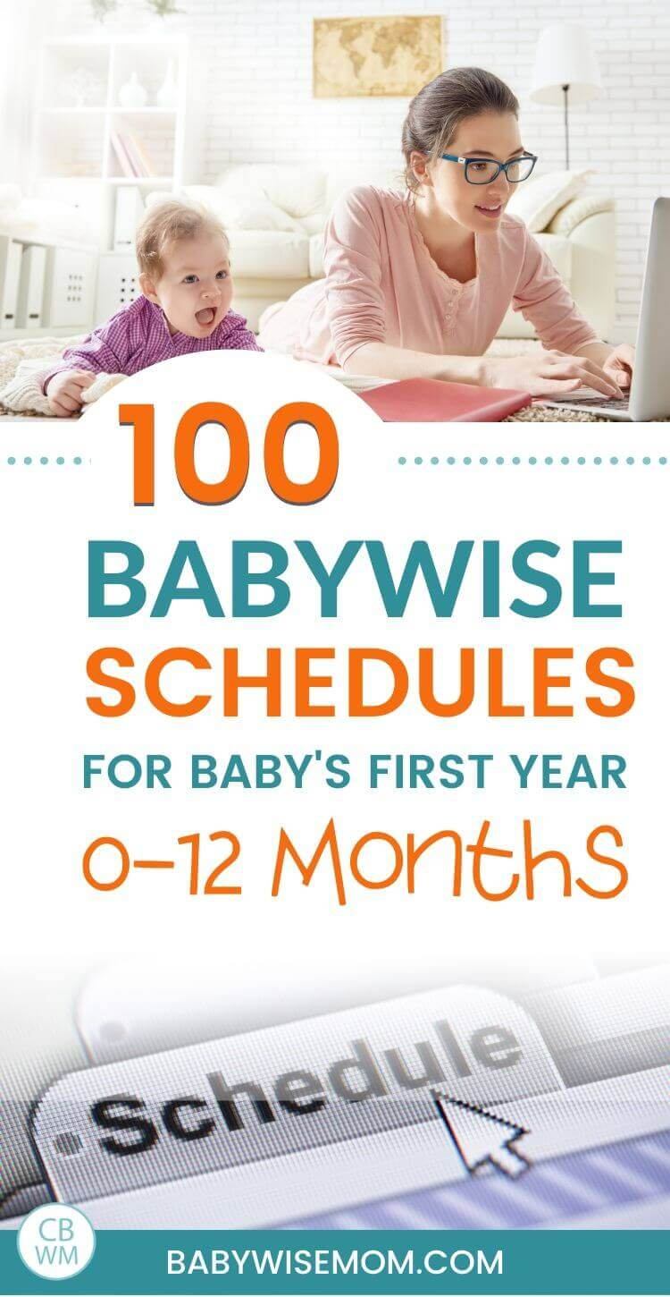 Babywise Schedules for 0-12 months