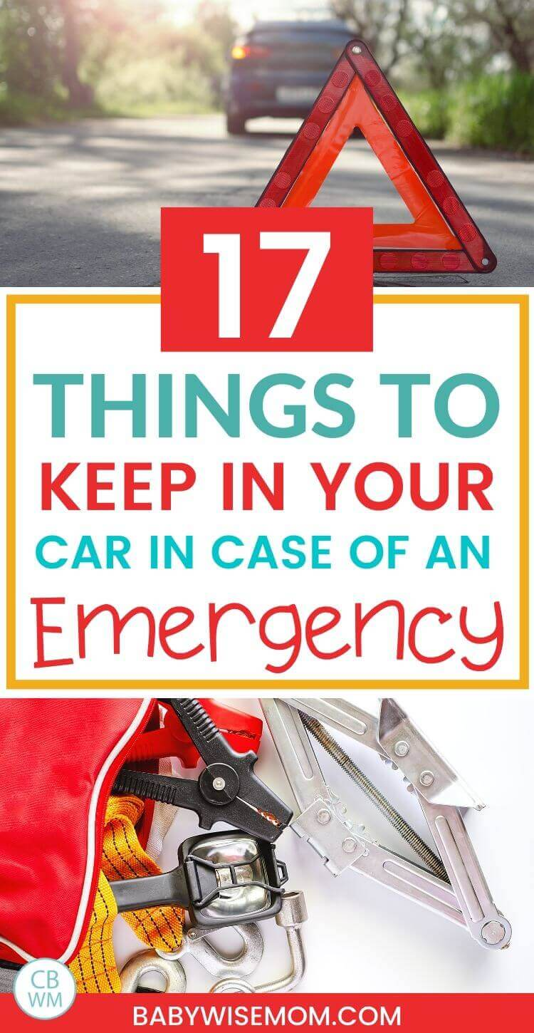 17 things to keep in your car in case of an emergency pinnable image