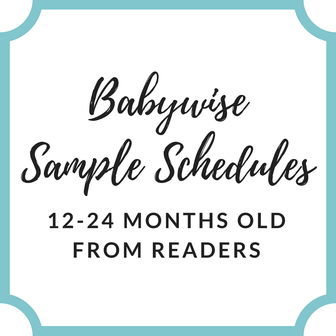 Reader Sample Schedules: 12-24 Months Old | Babywise Schedules | Babywise | #babywise #babywiseschedules