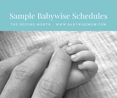 Sample Babywise Schedules: Two Months Old