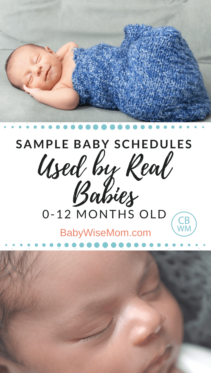 Over 100 sample Babywise schedules for 0-12 month olds. Baby sleep schedules.
