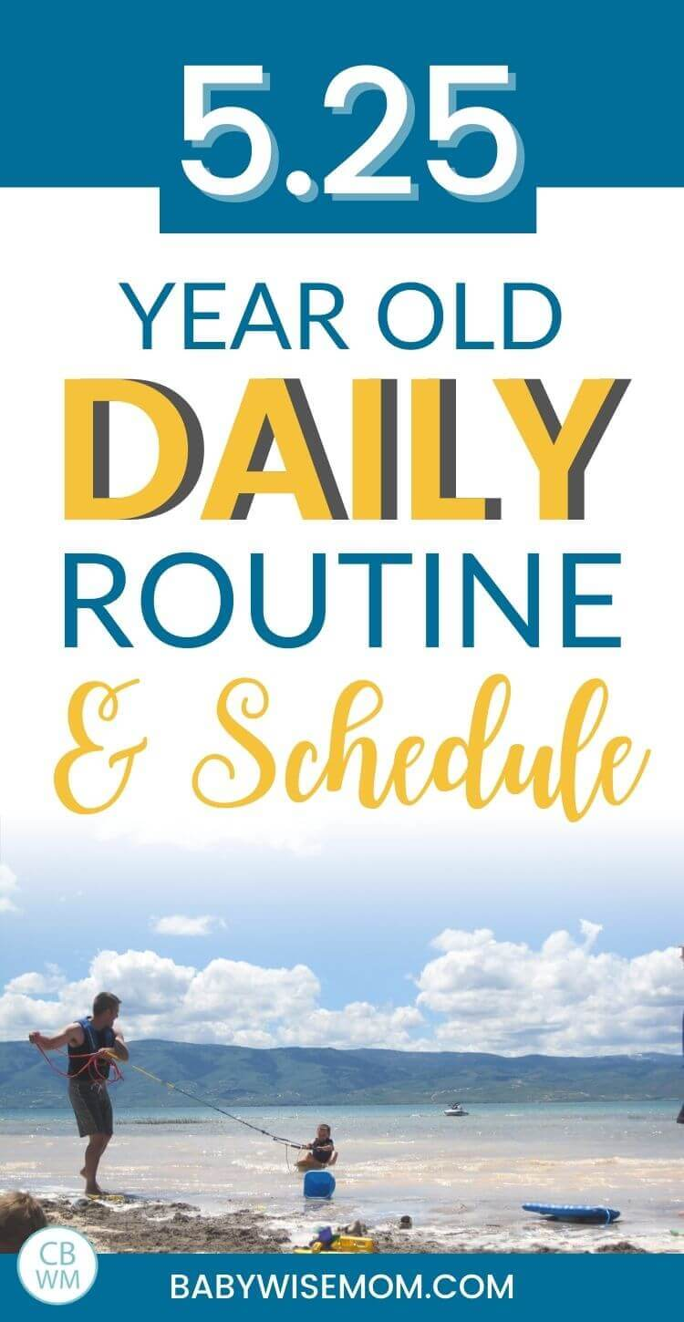 5 year old daily routine and schedule