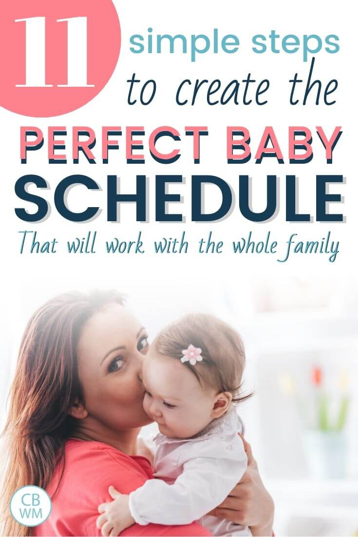 11 simple steps to create the perfect baby schedule pinnable image