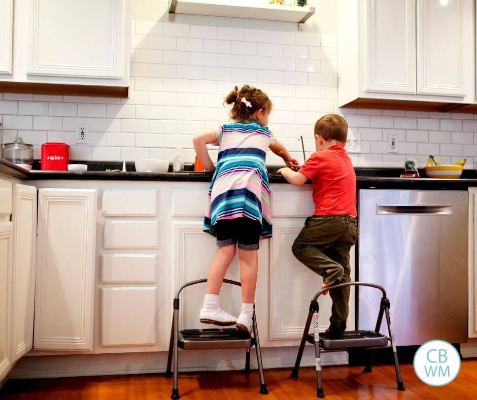 Children doing chores