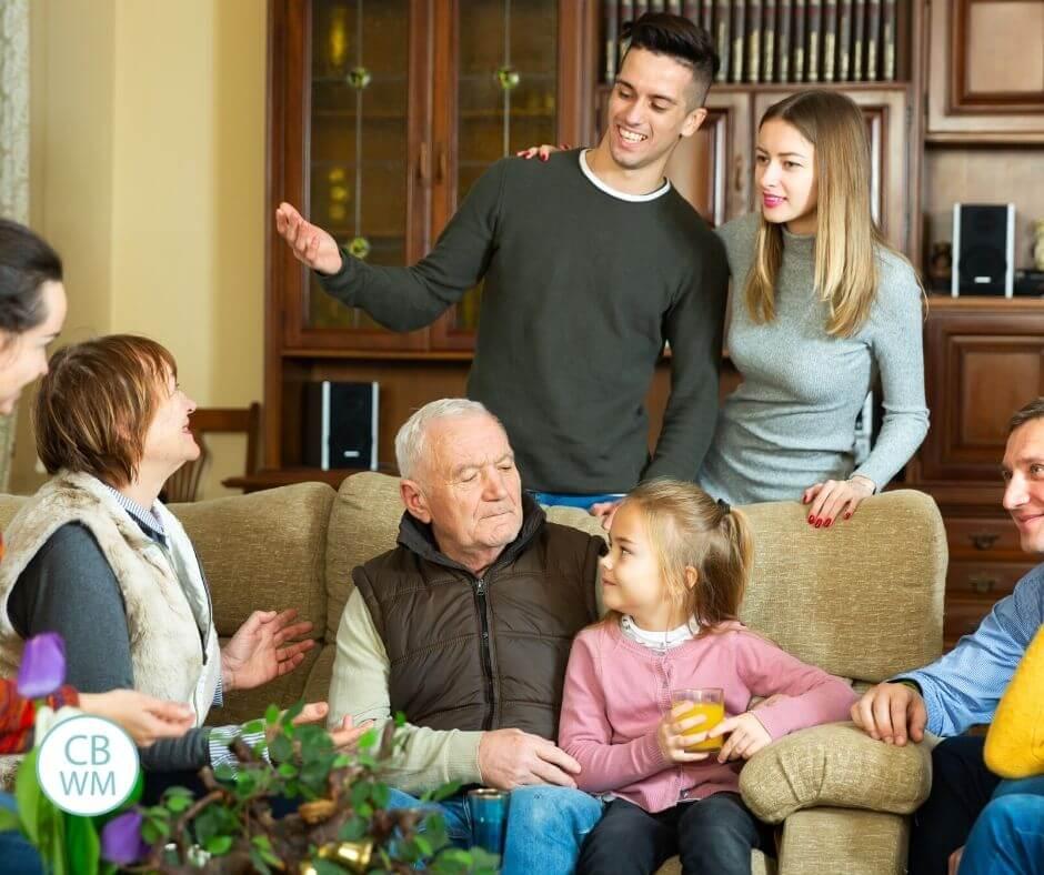 Large family gathering
