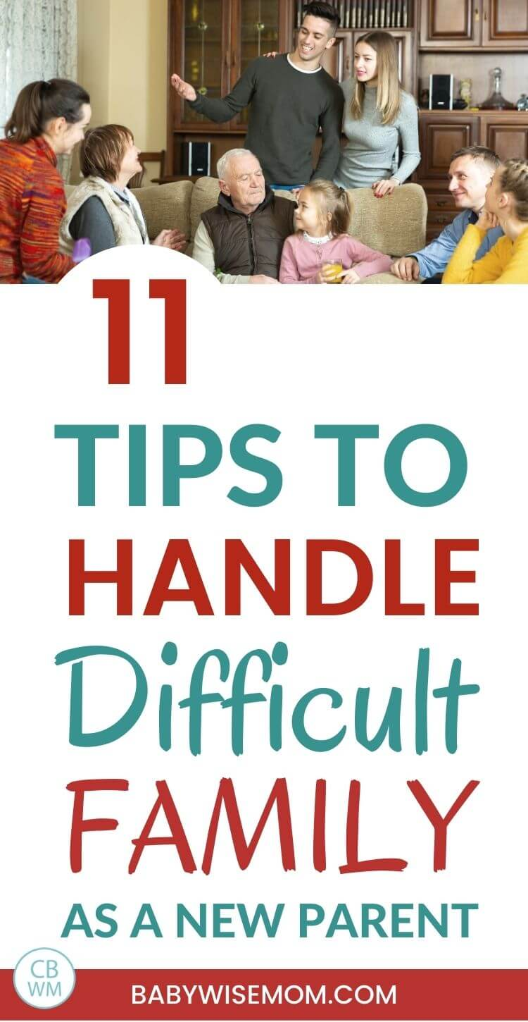 How to handle difficult family