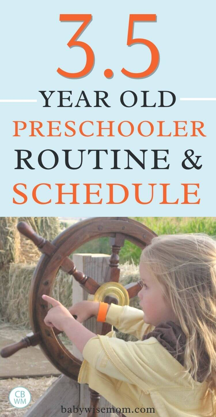 3.5 year old preschooler schedule