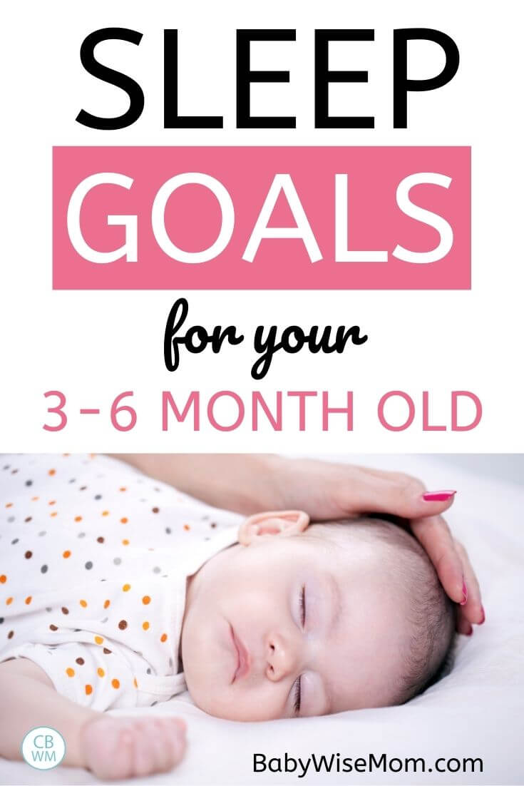sleep goals for 3-6 month old