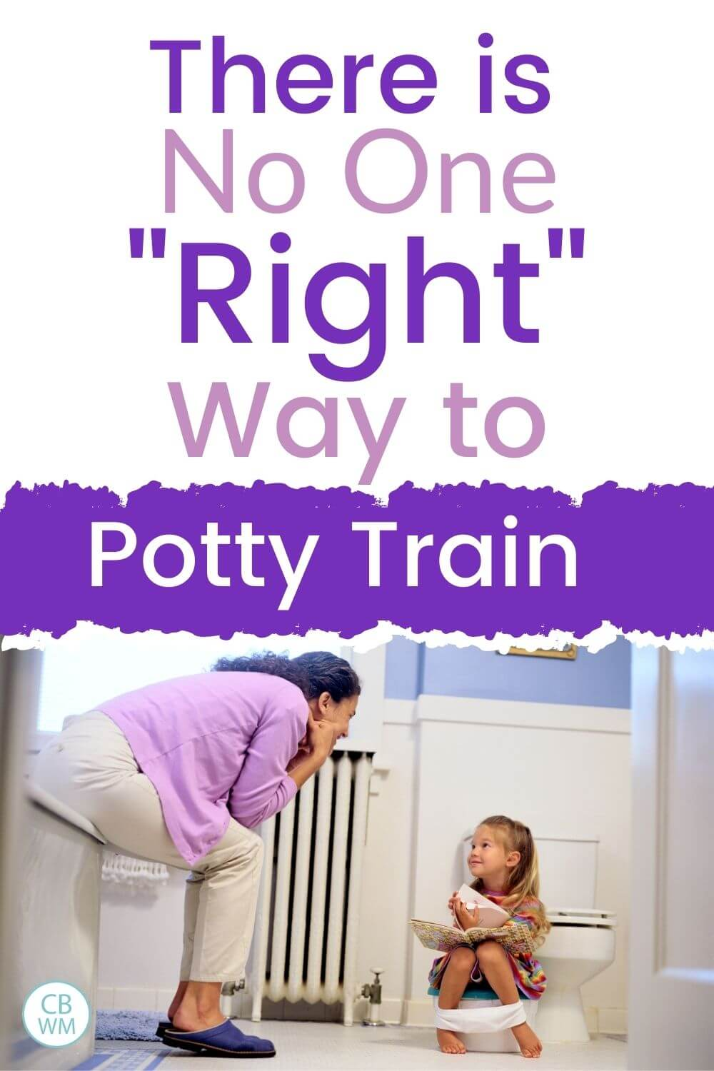 Mom with daughter while potty training