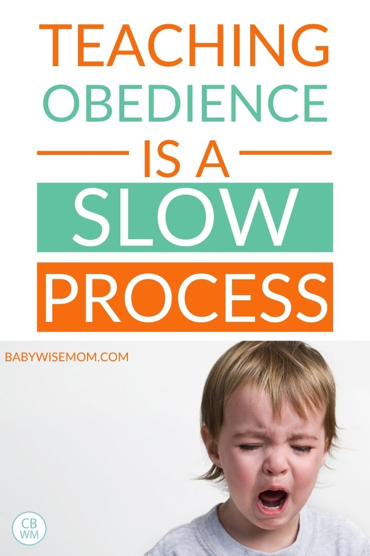 Obedience is a slow process