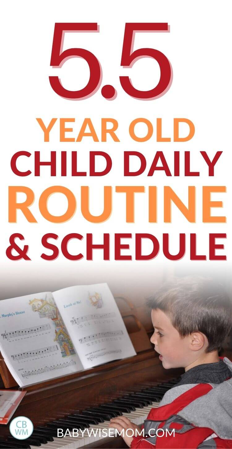 5.5 year old child daily routine and schedule