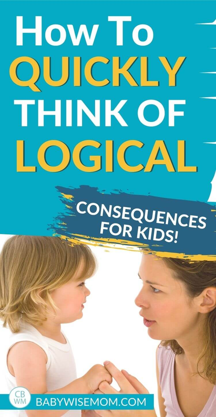 How to think of logical consequences for kids