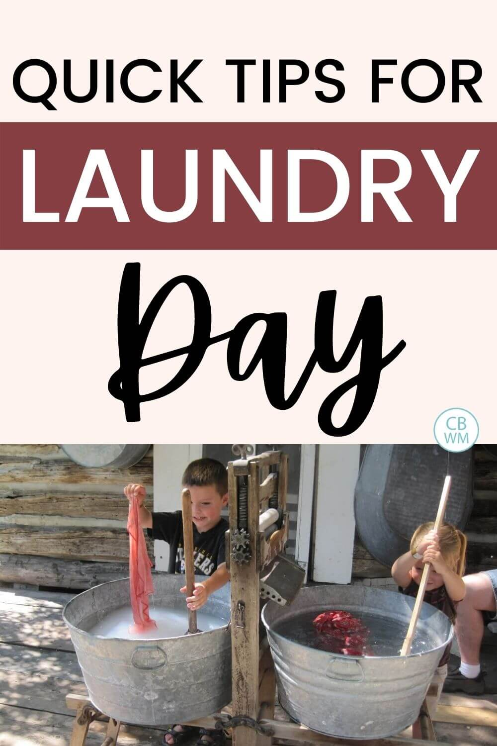 Quick tips for laundry day
