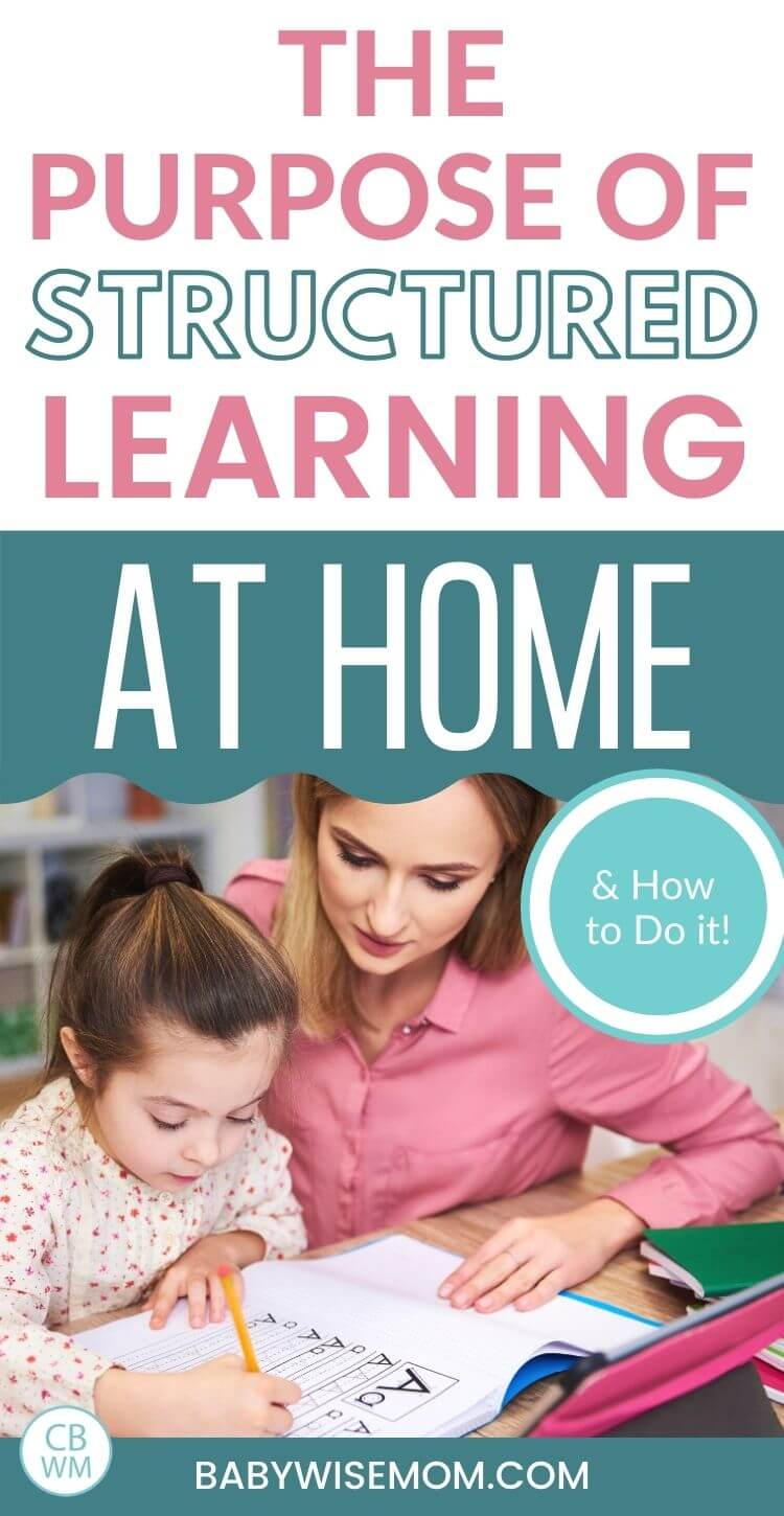 Purpose of structured learning at home pinnable image