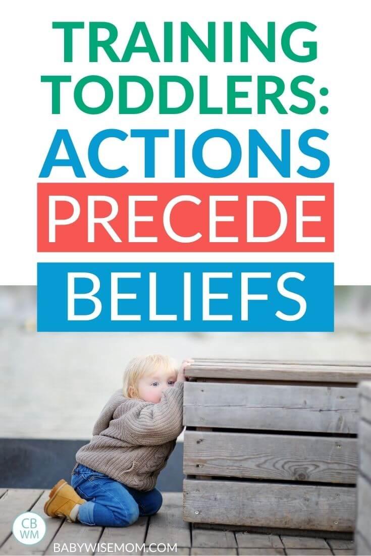 Actions precede beliefs