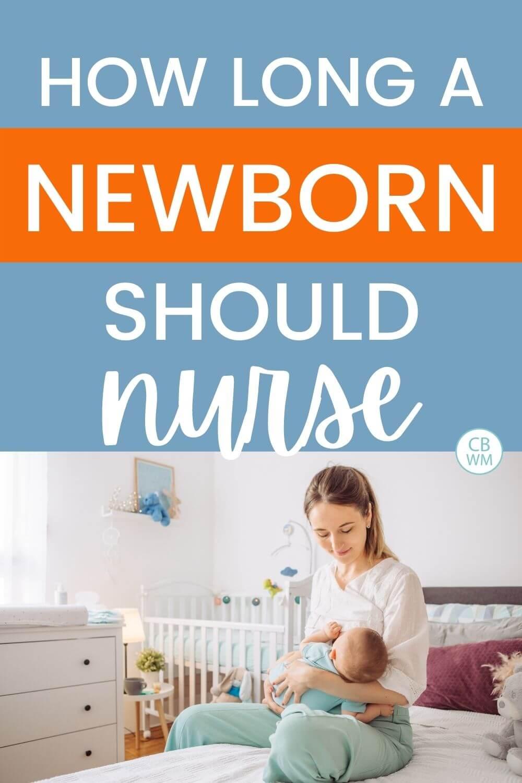 mom nursing newborn