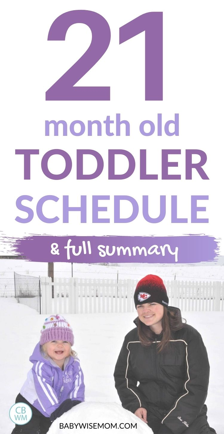 21 month old toddle schedule