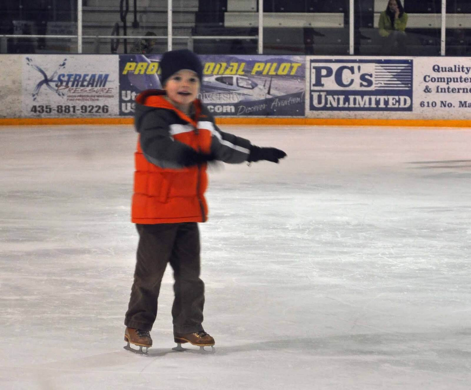 Brayden ice skating