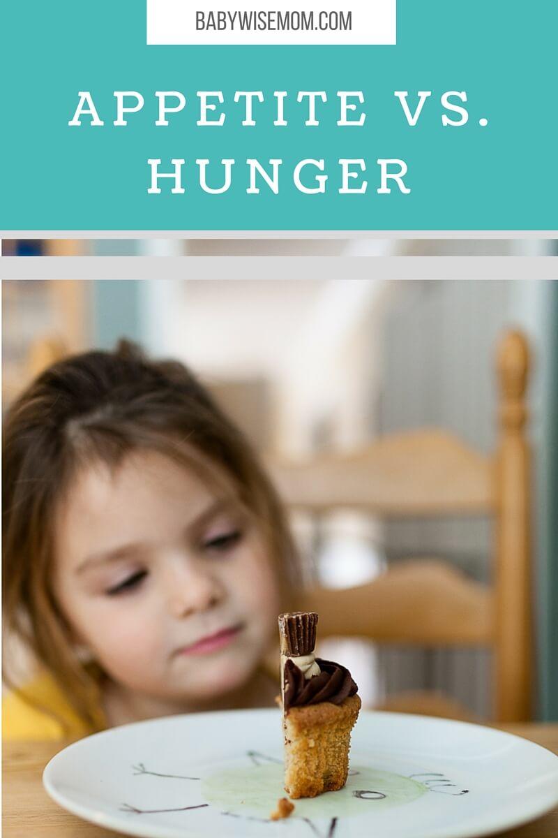 Appetite vs Hunger for kids