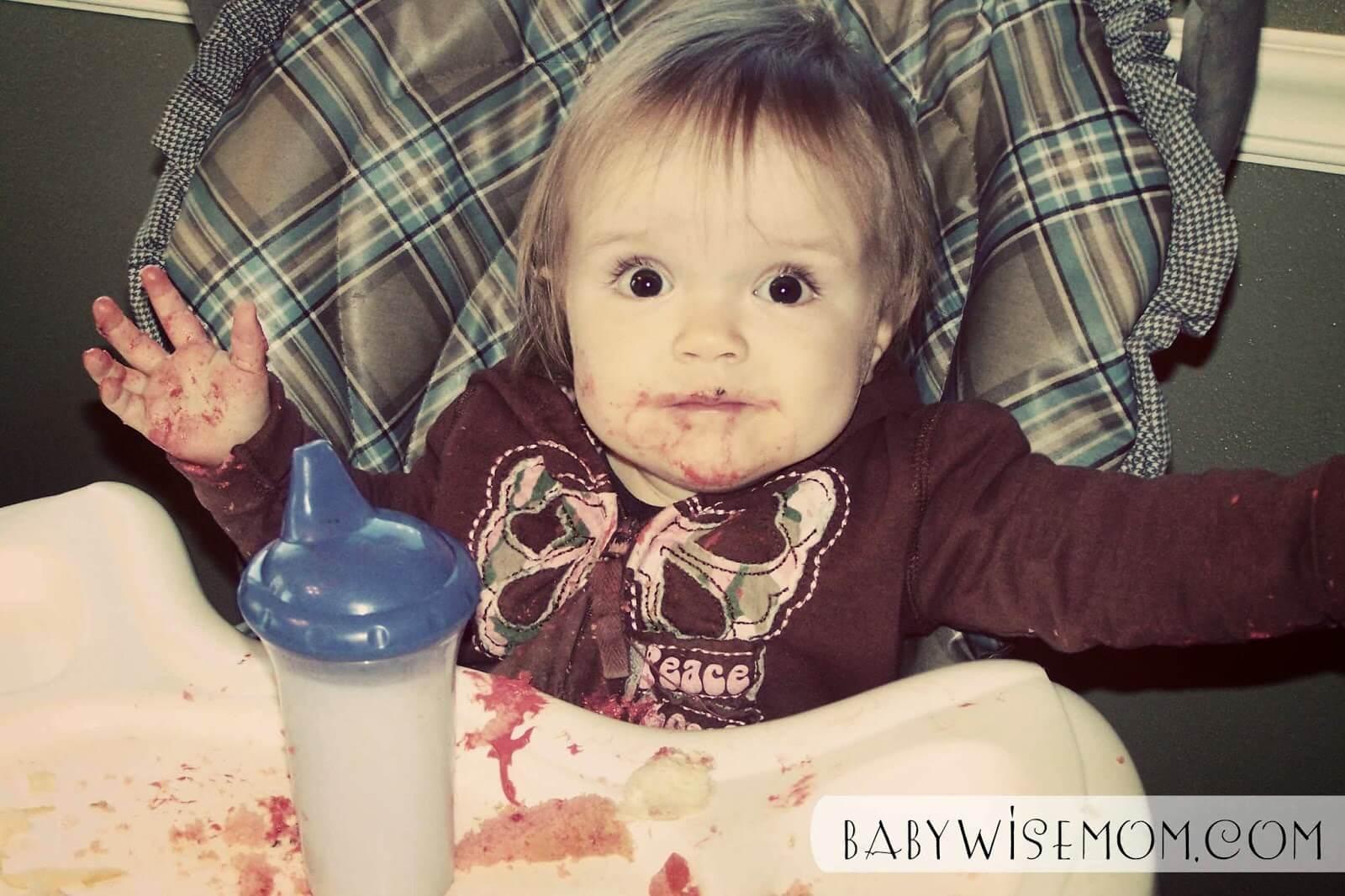 Kaitlyn eating as a pretoddler