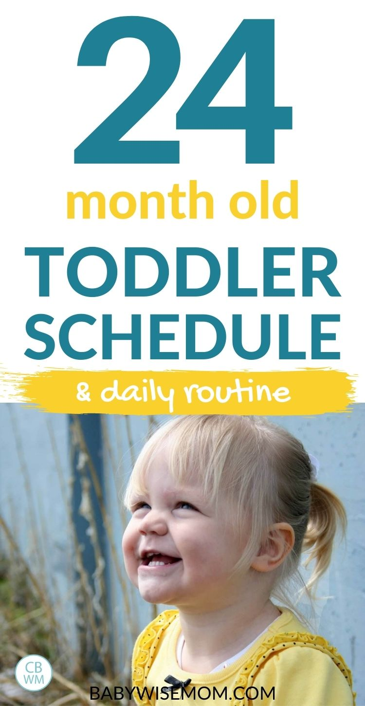 24 month old toddler schedule pinnable image