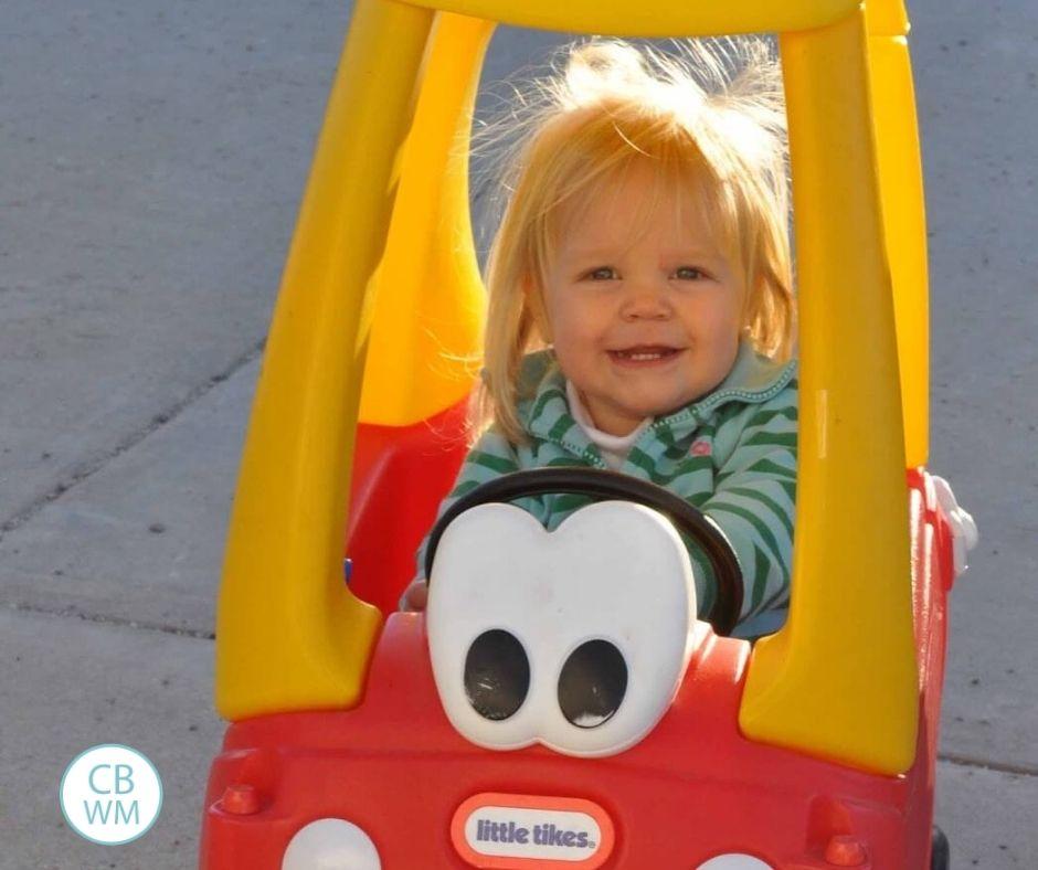 McKenna in a CozyCoup car