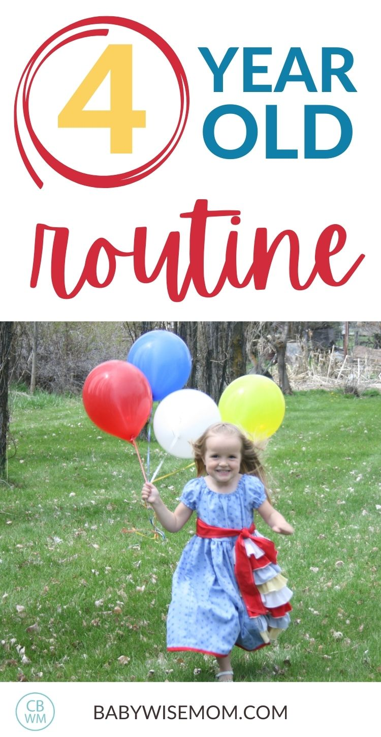 4 year old routine
