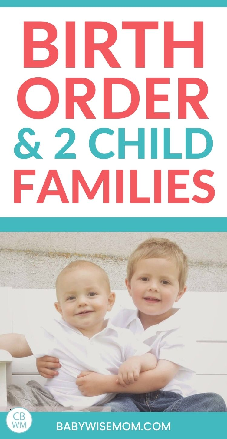 Birth order and two child families