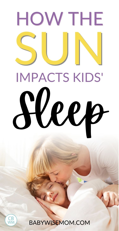 How the sun impacts sleep