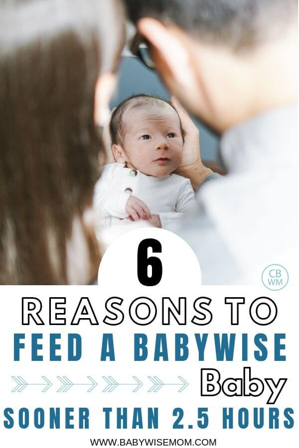 6 reasons to feed your Babywisebaby sooner than 2.5 hours with a picture of a baby and his parents