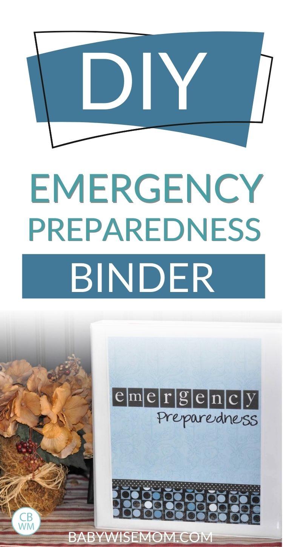DIY Emergency Prep binder pinnable image