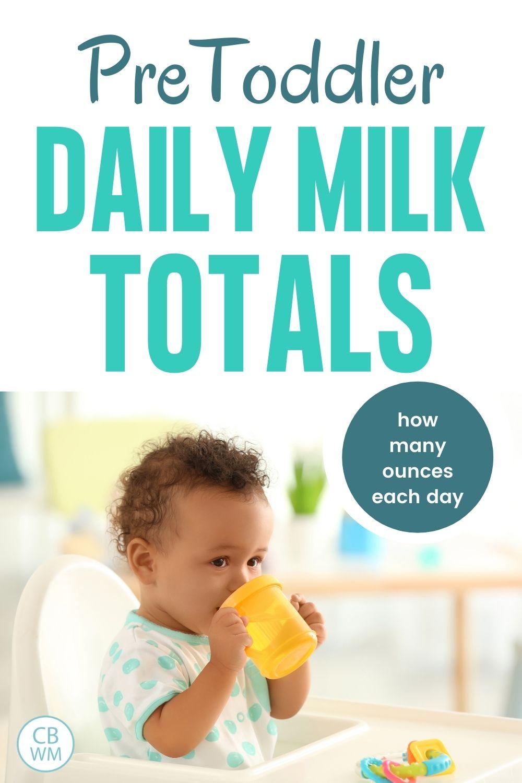 Pretoddler milk totals
