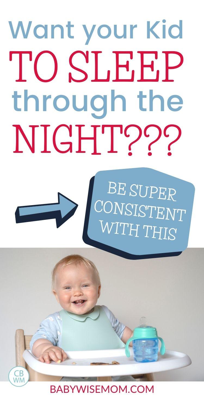 Get kid to sleep through the night