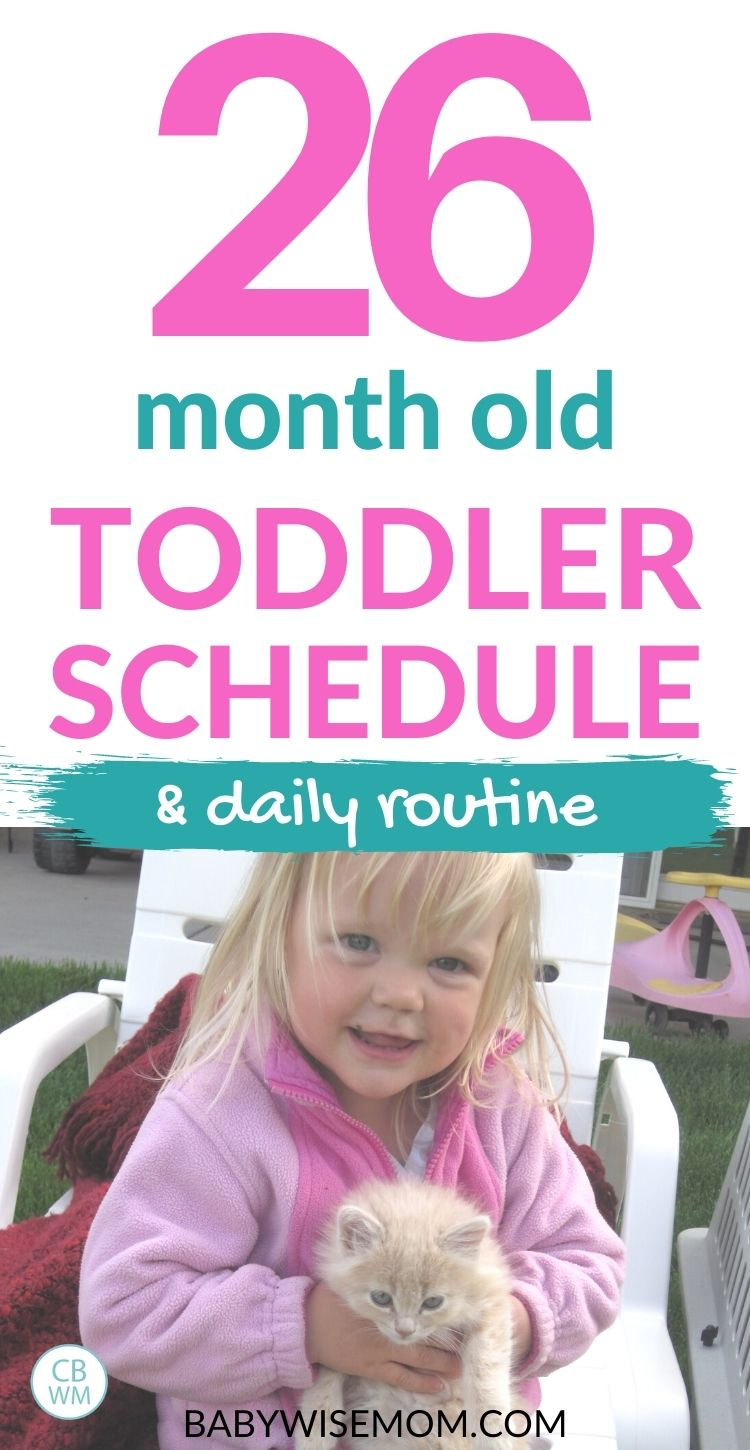 26 month old toddler schedule
