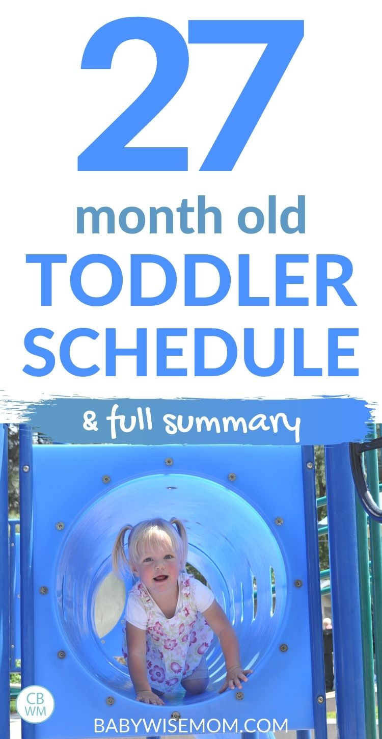 27 Month Old Toddler Schedule