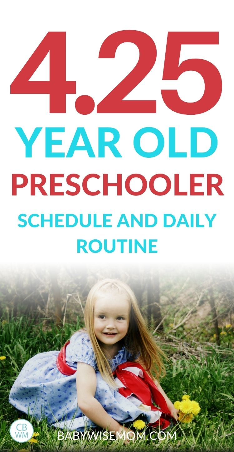 4 year old preschooler schedule and daily routine