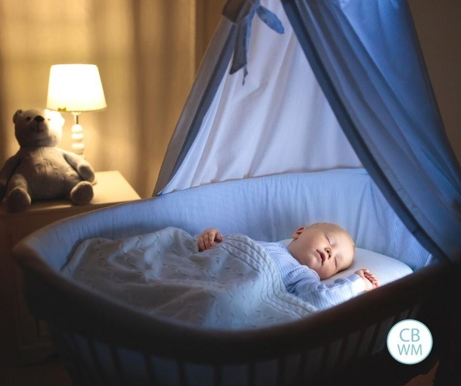 Baby sleeping at night
