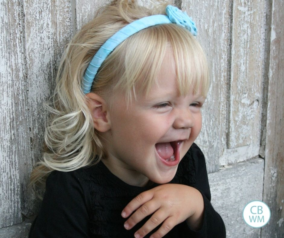 29 month old McKenna laughing