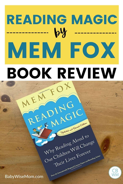 Reading Magic by Mem Fox Book Review pinnable image