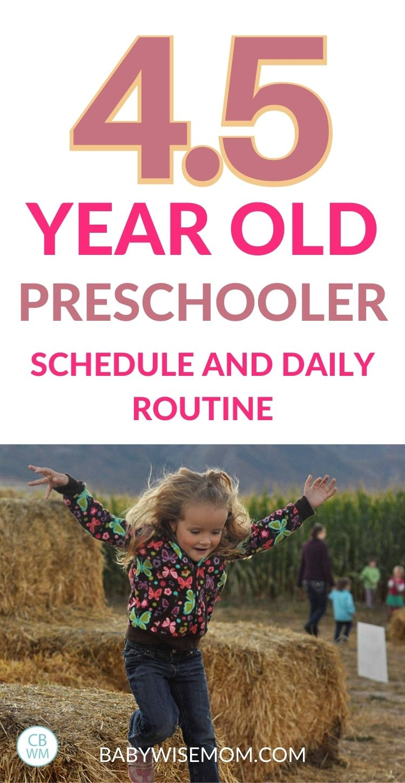 4.5 year old preschooler summary