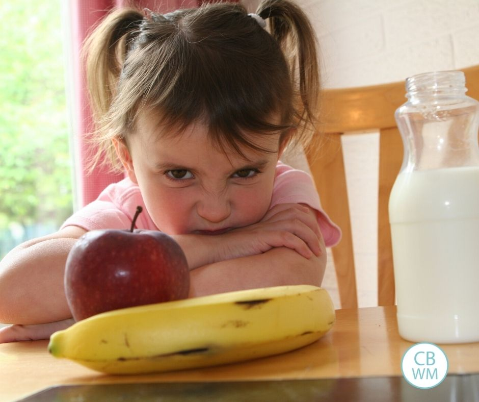 child refusing to eat a favorite food