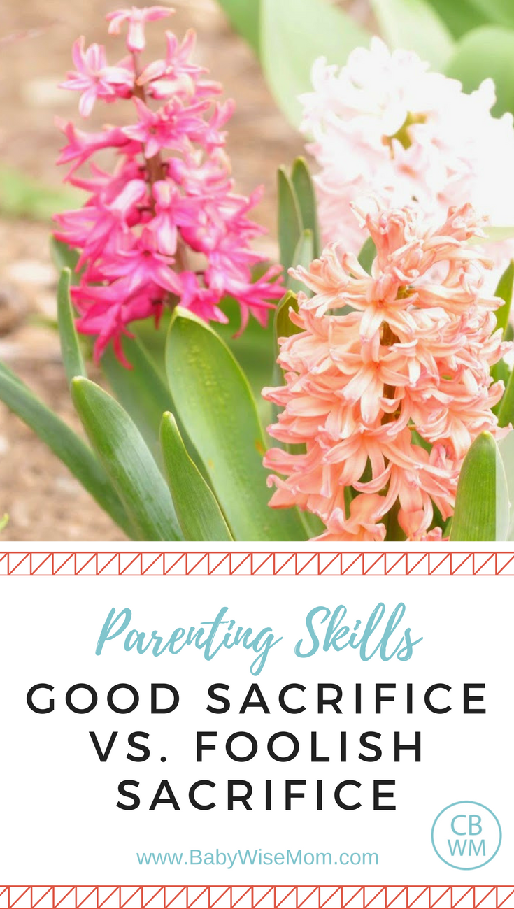 Good Sacrifice vs. Foolish Sacrifice in Parenting. Understanding when you should make sacrifices and when you should let things go.