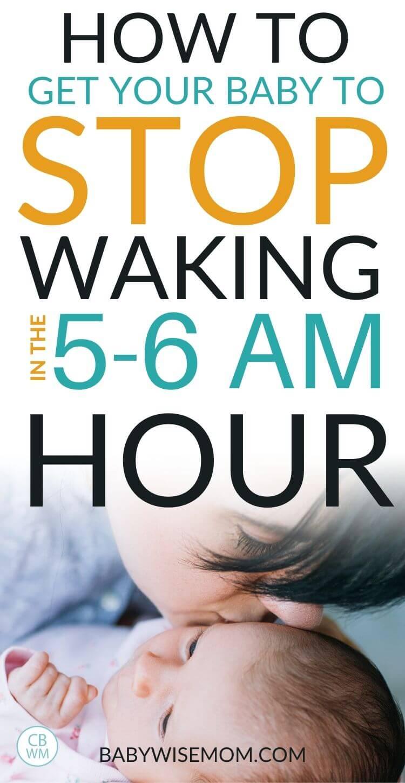 5-6 AM night waking post