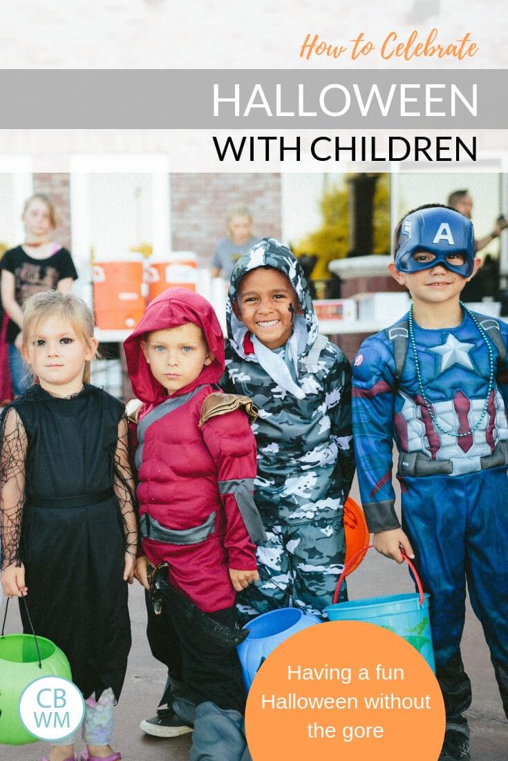 Children on Halloween in costume