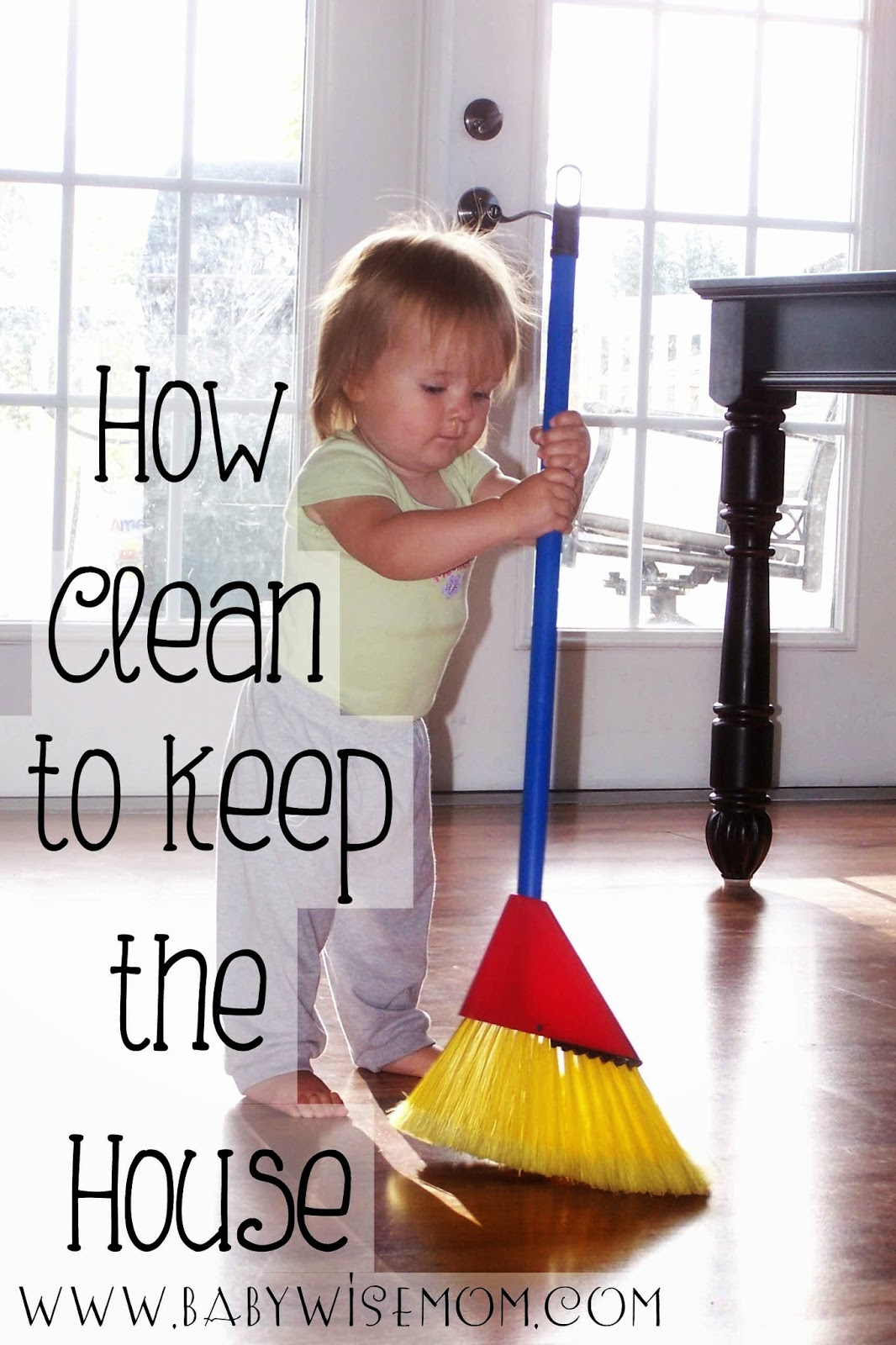 How clean do you need to keep your house?