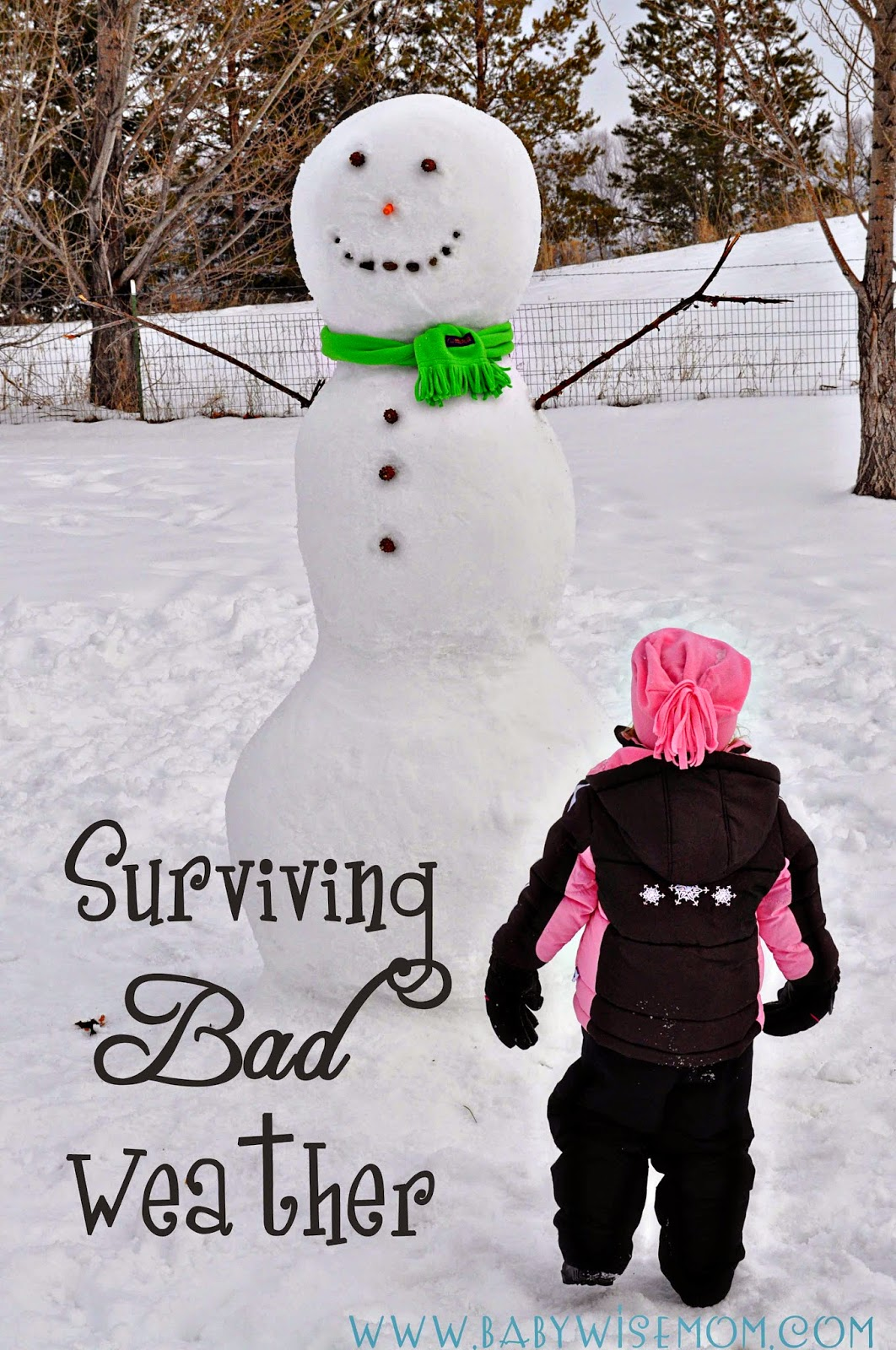 Surviving Bad Weather {With Kids} | Snow days | indoor activities with kids | winter activities