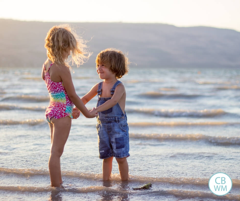 Boy and girl on the beach