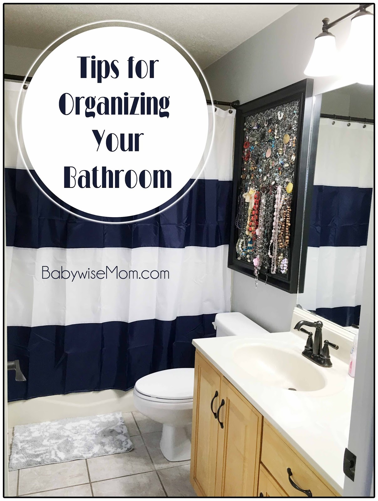 organizing the bathroom